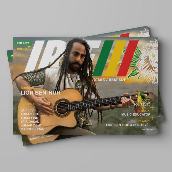 Lior Ben-Hur Irie Mag February World Reggae Issue